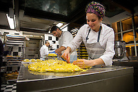 Milan, Italy- December 5, 2014: Staff at Pavé make panettone, a traditional Italian sweet bread, that is usually prepared during the Christmas season.  CREDIT: Chris Carmichael for The New York Times