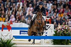 VON ECKERMANN Henrik (SWE), Toveks Mary Lou<br /> Göteborg - Gothenburg Horse Show 2019 <br /> Longines FEI World Cup™ Final II<br /> Int. jumping competition with jump-off (1.50 - 1.60 m)<br /> Longines FEI Jumping World Cup™ Final and FEI Dressage World Cup™ Final<br /> 05. April 2019<br /> © www.sportfotos-lafrentz.de/Stefan Lafrentz
