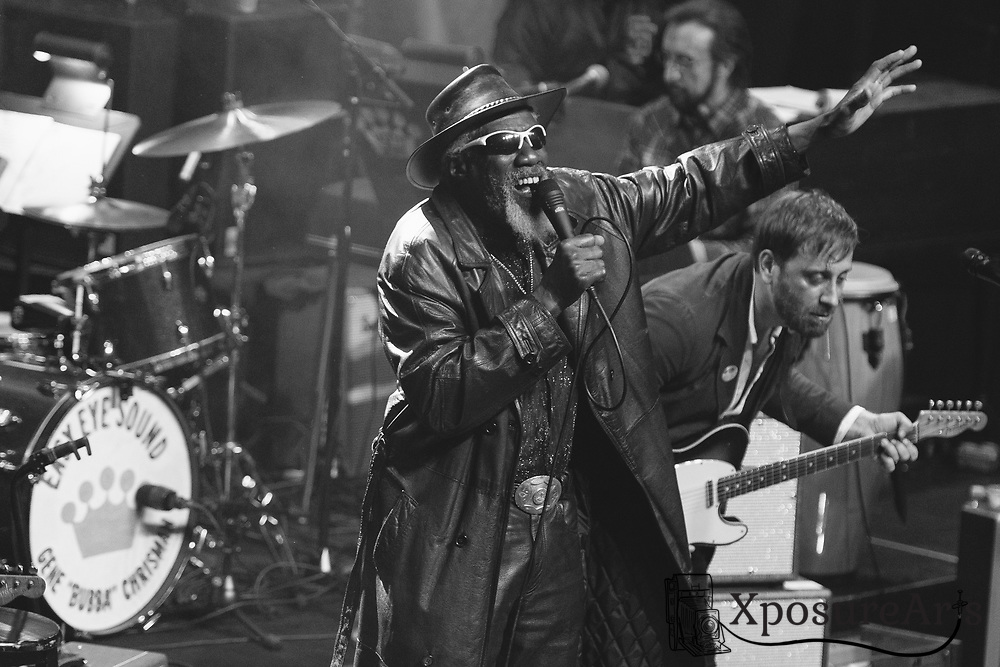 Robert Finley performs with Dan Auerbach at The Fillmore in San Francisco, CA. Photos: Karen Goldman. Instagram: @xposurearts <br /> Website: www.xposurearts.com