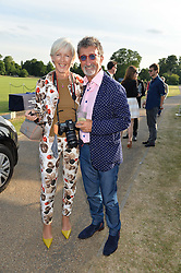 EDDIE & MARIE JORDAN at the Laureus Polo held at Ham Polo Club, Ham, Richmond, Surrey on 18th June 2015.