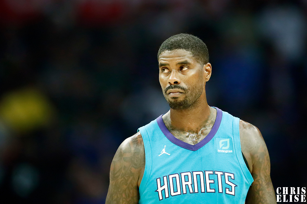 LOS ANGELES, CA - OCT 28: Marvin Williams (2) of the Charlotte Hornets rests during a game on October 28, 2019 at the Staples Center, in Los Angeles, California.