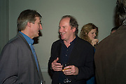 JULIAN BARNES AND WILLIAM BOYD, party to celebrate the 100th issue of Granta magazine ( guest edited by William Boyd.) hosted by Sigrid Rausing and Eric Abraham. Twentieth Century Theatre. Westbourne Gro. London.W11  15 January 2008. -DO NOT ARCHIVE-© Copyright Photograph by Dafydd Jones. 248 Clapham Rd. London SW9 0PZ. Tel 0207 820 0771. www.dafjones.com.