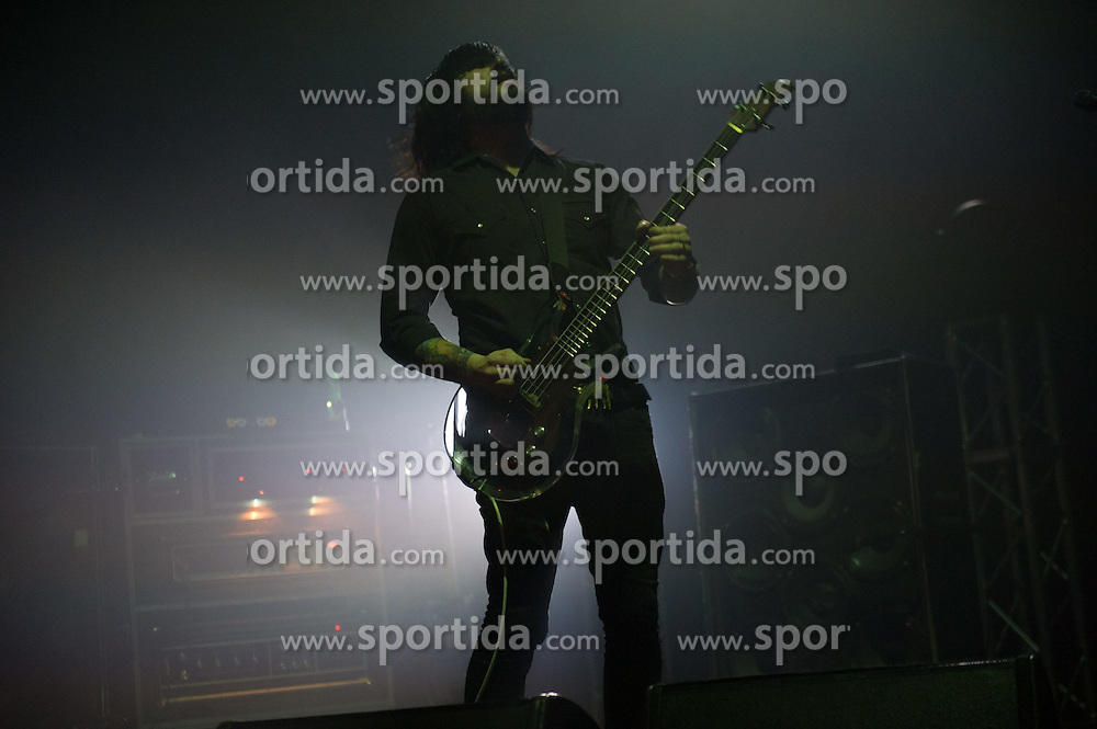 Bassist Jesse F. Keeler of Toronto duo Death From Above 1979 performing at Brixton Academy, London, England, UK on Wednesday 25th February 2015. EXPA Pictures &copy; 2015, PhotoCredit: EXPA/ Photoshot/ Justin Ng<br /> <br /> *****ATTENTION - for AUT, SLO, CRO, SRB, BIH, MAZ only*****