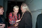 ANNIE LENNOX; JOHN FIDDLER, Stillness at the Speed of Light exhibition. Chris Levine series of  portraits of  Grace Jones.  VINYL FACTORY. POLAND ST. LONDON. 29 APRIL 2010 *** Local Caption *** -DO NOT ARCHIVE-© Copyright Photograph by Dafydd Jones. 248 Clapham Rd. London SW9 0PZ. Tel 0207 820 0771. www.dafjones.com.<br /> ANNIE LENNOX; JOHN FIDDLER, Stillness at the Speed of Light exhibition. Chris Levine series of  portraits of  Grace Jones.  VINYL FACTORY. POLAND ST. LONDON. 29 APRIL 2010