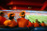 Fans of the Netherlands watch the game at St-Jakob-Park stadium