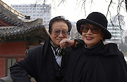 Film director Shin Sang-ok and his wife, film actress, Choi Eun-hee in Seoul, their current home, after spending years in Pyongyang after having been kidnapped by North Korean agents and forced to make films in North Korea for Kim Jong-il.<br />