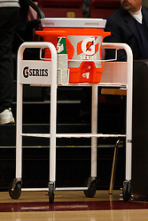 Dec 20, 2011; Stanford CA, USA;  Detailed view of a Gatorade container on the sidelines before the game between the Stanford Cardinal and the Tennessee Lady Volunteers at Maples Pavilion.  Stanford defeated Tennessee 97-80. Mandatory Credit: Jason O. Watson-US PRESSWIRE