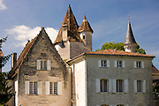 Chateau de Bourdeilles popular tourist destination near Brantome in Northern Dordogne, France