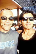 DJ Alfredo and friend, Ibiza 1998