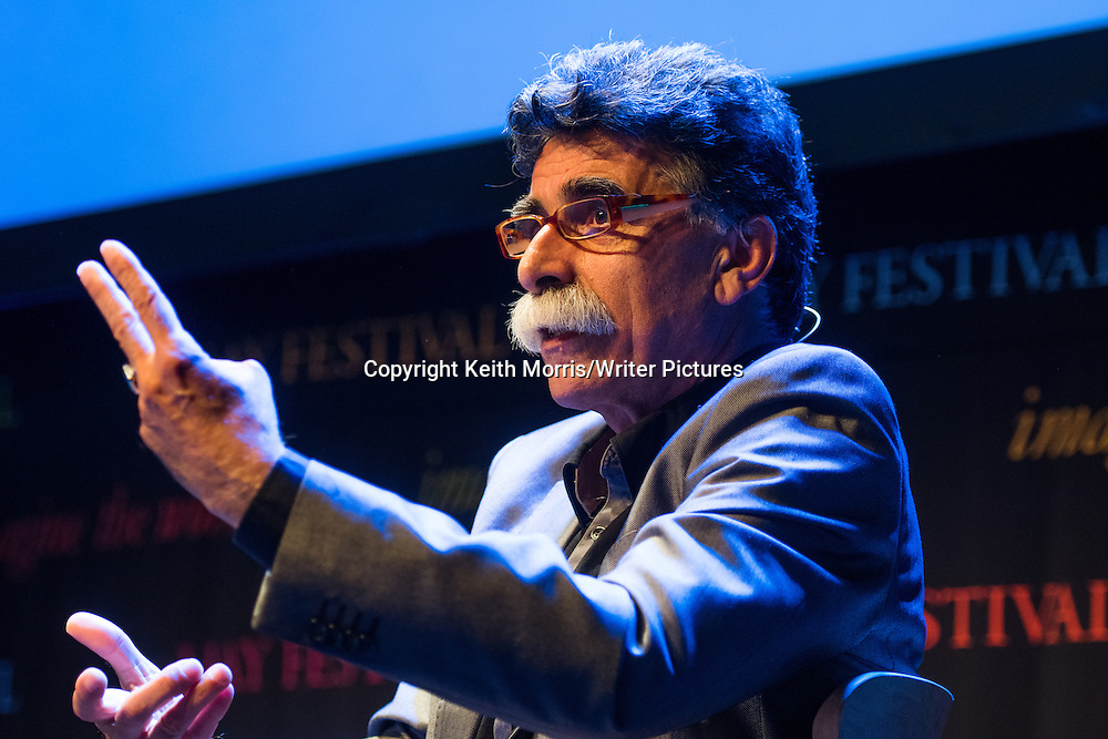 Kader Abdolah, (real name Hossein Sadjadi Ghaemmaghami Farahani)  , Persian&ndash;Dutch writer, poet and columnist.  Known for using Persian literary themes in his Dutch works. The Hay Festival of Literature and the Arts, Hay on Wye, Powys, Wales UK, June 01 2016<br /> <br /> Picture by Keith Morris/Writer Pictures