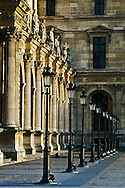 Colums and lampposts, The Louvre, Paris, France