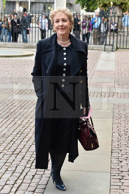 © Licensed to London News Pictures. 07/06/2017. London, UK. PATRICIA HODGE attends a service of Thanksgiving for the life and work of RONNIE CORBETT at Westminster Abbey. The entertainer, comedian, actor, writer, and broadcaster was best known for his long association with Ronnie Barker in the BBC television comedy sketch show The Two Ronnies. Photo credit: Ray Tang/LNP