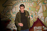 Graffiti artist: CHU , The launch of Your Game 2008. Swiss Ambassador's Residence car park. Bryanston Sq. London. W1. 28 February 2008.  *** Local Caption *** -DO NOT ARCHIVE-© Copyright Photograph by Dafydd Jones. 248 Clapham Rd. London SW9 0PZ. Tel 0207 820 0771. www.dafjones.com.