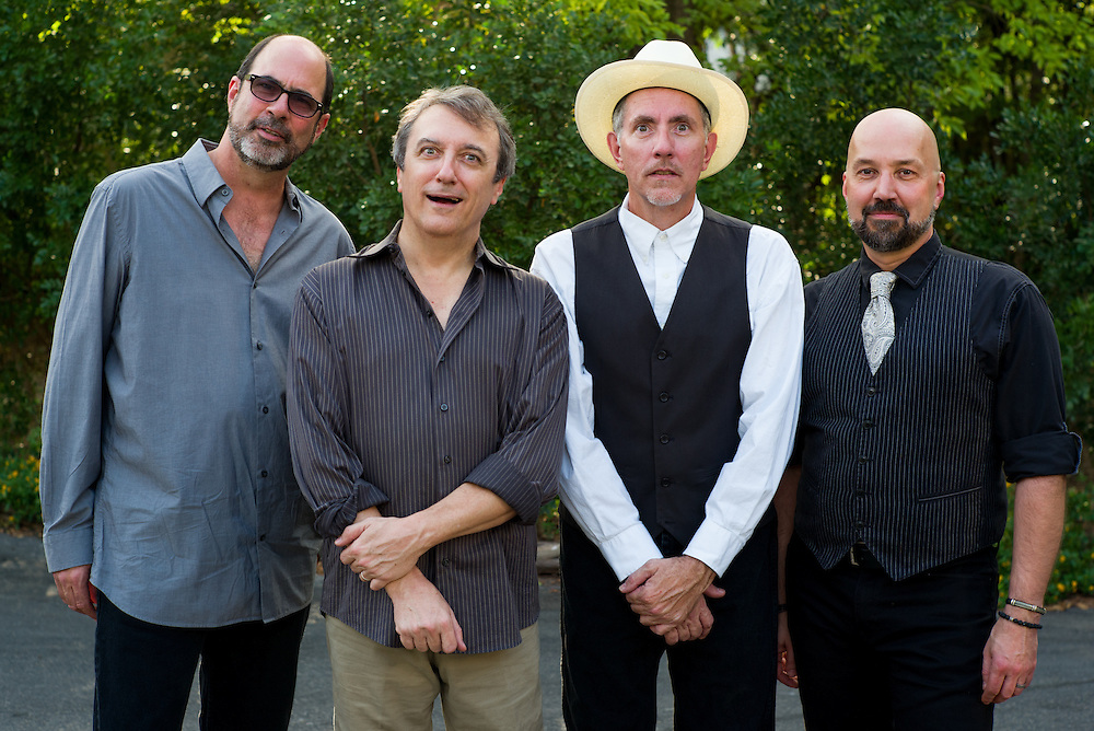 L-R Marty Muse, Rich Brotherton, Bill Whitbeck, and Tom Van Schaik at Gruene Hall in New Braunfels, Texas on October 10 2014.