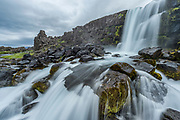 Oxararfoss waterfall in Thingvellir national park.
