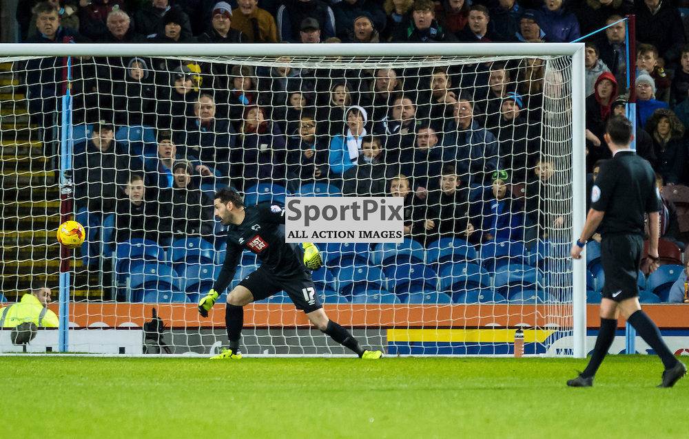 Derby County goalkeeper Scott Carson (17) looks on as his team mate Derby County defender Richard Keogh (6) scores an own goal in the Championship match between Burnley and Derby County(c) John Baguley | SportPix.org.uk