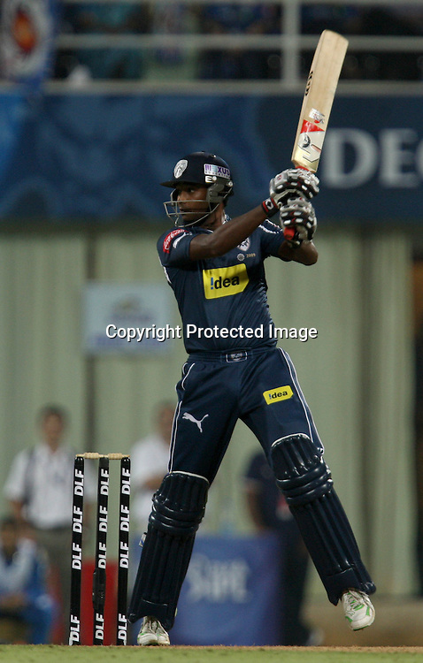 Deccan Chargers Batsman T. Suman Hit The Shot Against  Mumbai Indians During The Deccan Chargers vs Mumbai Indians, 25th Twenty20 match Indian Premier League- 2009/10 season Played at Dr DY Patil Sports Academy, Mumbai 28 March 2010 - day/night (20-over match)