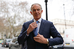 © Licensed to London News Pictures. 14/12/2018. London, UK. Former Prime Minister Tony Blair arrives to give a speech at a People's Vote event in central London. Photo credit: Rob Pinney/LNP