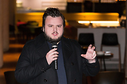 © Licensed to London News Pictures. 09/02/2015. London, UK. Actor, John Bradley opens the Game of Thrones Exhibition on 9th February 2014 at the O2 Arena in Greenwich, south-east London. Photo credit : Vickie Flores/LNP