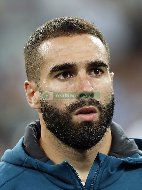Daniel Carvajal of Real Madrid during the UEFA Champions League group H match between Real Madrid and APOEL FC on September 13, 2017 at the Santiago Bernabeu stadium in Madrid, Spain.