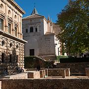 Patio de Los Arrayanes. La Alhambra. Granada, Spain.