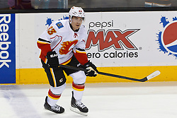 Jan 17, 2012; San Jose, CA, USA; Calgary Flames left wing Mike Cammalleri (93) warms up before the game against the San Jose Sharks at HP Pavilion. San Jose defeated Calgary 2-1 in shootouts. Mandatory Credit: Jason O. Watson-US PRESSWIRE