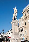 Second world war British memorial monument Gibraltar, British terroritory in southern Europe