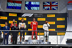 October 21, 2018 - Austin, United States - Motorsports: FIA Formula One World Championship; 2018; Grand Prix; United States, FORMULA 1 PIRELLI 2018 UNITED S GRAND PRIX , Circuit of The Americas#7 Kimi Raikkonen (FIN, Scuderia Ferrari), #44 Lewis Hamilton (GBR, Mercedes AMG Petronas F1 Team), #33 Max Verstappen (NDL, Red Bull Racing),  Murray  (Credit Image: © Hoch Zwei via ZUMA Wire)