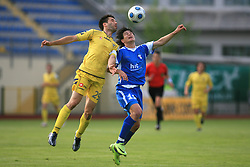 Luka Elsner vs Etien Velikonja at 32th Round of Slovenian First League football match between NK Domzale and NK Hit Gorica in Sports park Domzale, on May 6, 2009, in Domzale, Slovenia. Gorica won 2:0. (Photo by Vid Ponikvar / Sportida)