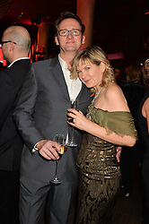 PENNY SMITH and VINCE LEIGH at the Costa Book of The Year Awards held at Quaglino's, 16 Bury Street, London on 26th January 2016.