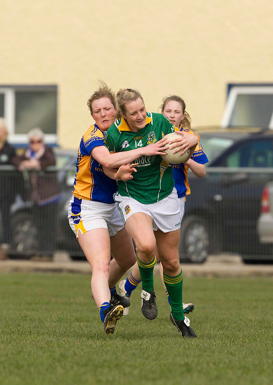 Meath vs Tipperary, Ladies NFL, Division 2 at Seneschalstown GFC_27th March 2011.Kelly Hackett (Tipperary) & Mary Sheridan (Meath).Photo: David Mullen /www.cyberimages.net