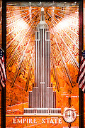 In the Empire State Building's marble-clad lobby, a spectacular Art Deco bas-relief depicts the building itself