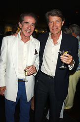Left to right, The EARL ALEXANDER OF TUNIS and his brother the HON.BRIAN ALEXANDER who runs Mustique at a party to celebrate the OBE for Basil Charles - The famous Mustique bar owner held at Pengelley's, Sloane Street, London on 22nd June 2005.<br />
