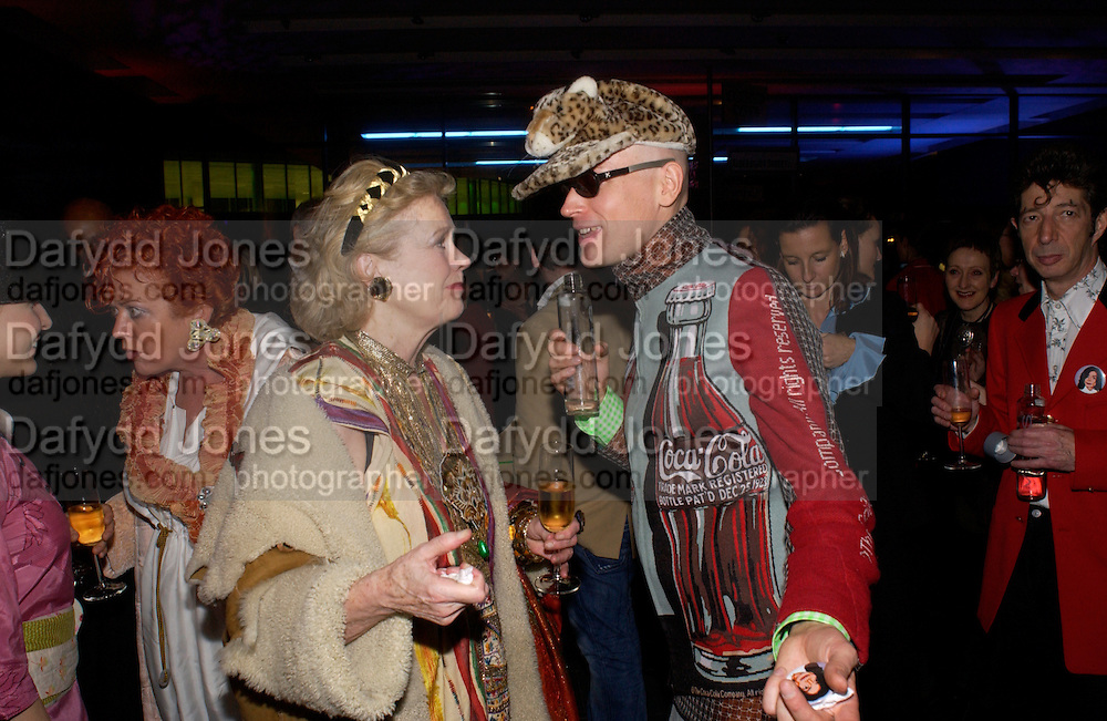 Ulla Larson and Andre Bartenev. Party hosted by Alexandra Shulman, Rupert Hambro and Prof  Jack Lohman to open 'The London Look, Fashion from Street to Catwalk', Museum of London. ONE TIME USE ONLY - DO NOT ARCHIVE  © Copyright Photograph by Dafydd Jones 66 Stockwell Park Rd. London SW9 0DA Tel 020 7733 0108 www.dafjones.com