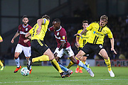 Aston Villa forward Rushian Hepburn-Murphy (29) attacks the Brewers defence during the second round or the Carabao EFL Cup match between Burton Albion and Aston Villa at the Pirelli Stadium, Burton upon Trent, England on 28 August 2018.