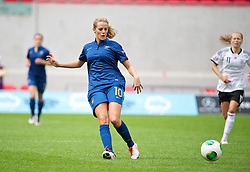 LLANELLI, WALES - Wednesday, August 28, 2013: France's Sandie Toletti in action against Germany during the Semi-Final match of the UEFA Women's Under-19 Championship Wales 2013 tournament at Parc y Scarlets. (Pic by David Rawcliffe/Propaganda)