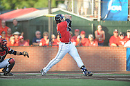 Mississippi's Will Allen (30) bats against Louisiana-Lafayette in an NCAA Super Regional game in Lafayette, La. on Saturday, June 7, 2014.    Louisiana-Lafayette won 9-5.