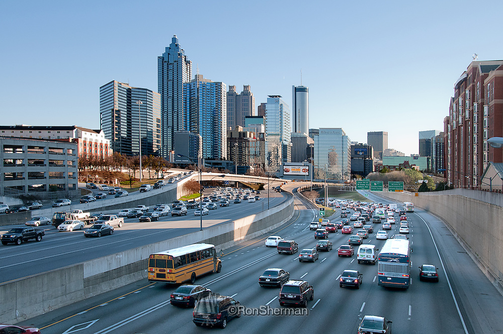 In Atlanta, Georgia, the Downtown Connector or 75/85 is the concurrent section of Interstate 75 and Interstate 85 through the core of the city. Beginning at the I-85/Langford Parkway interchange, the Downtown Connector runs generally due north, meeting the east-west Interstate 20 in the middle. Just north of this is the Grady Curve around Grady Memorial Hospital. Continuing north, the terminus of the Downtown Connector is the Brookwood Interchange or Brookwood Split in the Brookwood area of the city. The overall length of the Downtown Connector is approximately 7.5 miles
