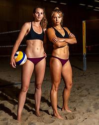 06-07-2018 NED: EC Beach teams Netherlands, The Hague<br /> (L-R) Jolien Sinnema, Laura Bloem