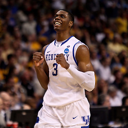 Mar 19, 2011; Tampa, FL, USA; Kentucky Wildcats forward Terrence Jones (3) during the second half of the third round of the 2011 NCAA men's basketball tournament against the West Virginia Mountaineers at the St. Pete Times Forum. Kentucky defeated West Virginia 71-63.  Mandatory Credit: Derick E. Hingle