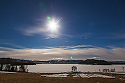 Solar eclipse, Norway. Vårjevndøgn og solformørkelse. Selbu i Sør-Trøndelag. It was also equinox.