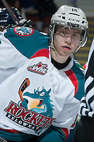 KELOWNA, CANADA -FEBRUARY 10: Rourke Chartier #14 of the Kelowna Rockets skates against the Seattle Thunderbirds on February 10, 2014 at Prospera Place in Kelowna, British Columbia, Canada.   (Photo by Marissa Baecker/Getty Images)  *** Local Caption *** Rourke Chartier;