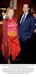 EMILIO & BROOKE DE OCAMPO at a party in London on 15th October 2002.PEC 99