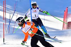 PERRINE Melissa, Guide: KELLY Bobbi, B2, AUS, Slalom at the WPAS_2019 Alpine Skiing World Cup Finals, Morzine, France