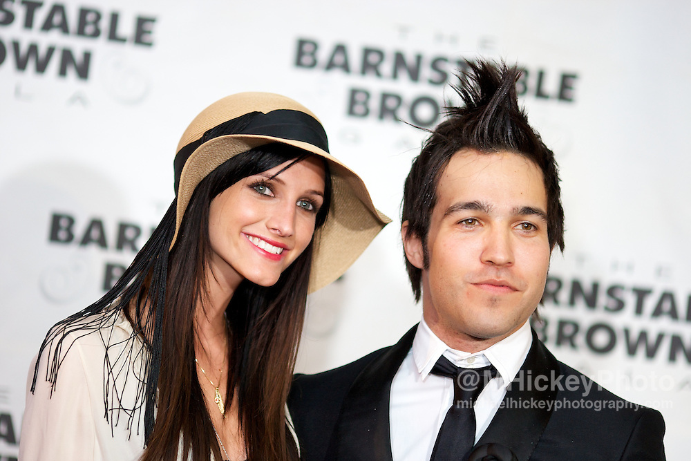 Singer and actress Ashlee Simpson and Pete Wentz seen the Barnstabel Brown Gala in Louisville, Kentucky.