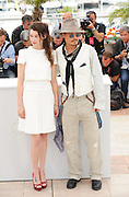 14.MAY.2011. CANNES<br /> <br /> ACTORS JOHNNY DEPP AND ASTRID BERGES-FRISBEY AT THE PIRATES OF THE CARIBBEAN PHOTO CALL IN CANNES<br /> <br /> BYLINE: EDBIMAGEARCHIVE.COM<br /> <br /> *THIS IMAGE IS STRICTLY FOR UK NEWSPAPERS AND MAGAZINES ONLY*<br /> *FOR WORLD WIDE SALES AND WEB USE PLEASE CONTACT EDBIMAGEARCHIVE - 0208 954 5968*