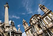 Church of San Domenico, Palermo, Sicily, Italy. Closeup