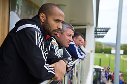 NEWPORT, WALES - Saturday, May 30, 2015: Thierry Henry during the Football Association of Wales' National Coaches Conference 2015 at Dragon Park. (Pic by David Rawcliffe/Propaganda)