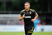 Dean Parrett (18) of AFC Wimbledon during the Pre-Season Friendly match between Aldershot Town and AFC Wimbledon at the EBB Stadium, Aldershot, England on 28 July 2017. Photo by Graham Hunt.