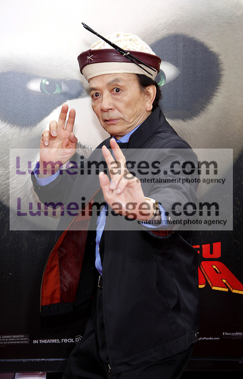 James Hong at the Los Angeles premiere of 'Kung Fu Panda 2' held at the Grauman's Chinese Theater in Hollywood, USA on May 22, 2011.